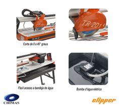 Cortadora de pisos e porcelanatos Clipper TR 201 E