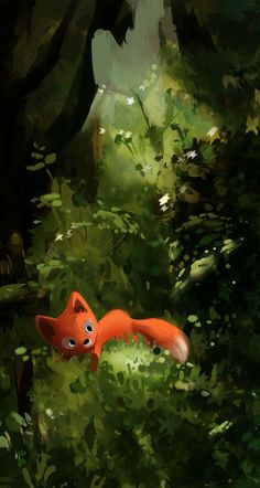 #art #wallpaper #background #phone #iphone #drawing #painting #baby #fox