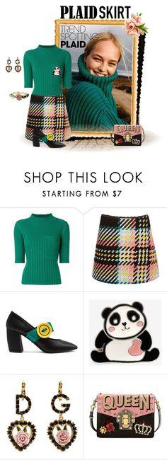 """Plaid trend"" by ida-mccosh ❤ liked on Polyvore featuring Angelo, Joseph, Marni, Prada and Dolce&Gabbana"