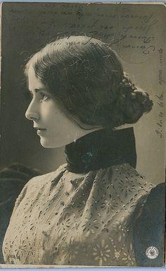 Victorian Beauty ...Cleo de Merode...of  France by Kingkongphoto & www.celebrity-photos.com, via Flickr