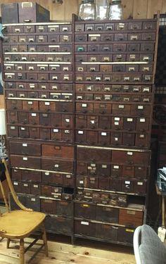 Herb's Finds.  Best cabinet ever. 195 drawers.  Artistreeworkshops