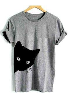 13530809e992b0 round neck print short sleeve t-shirts T-shirts Für Frauen