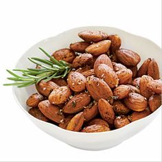 Rosemary Roasted Almonds - try to store nuts in the refrigerator when possible.  Easy snack to pack for a quick fix on the go.