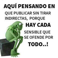 Very Funny, Decir No, Kermit, Comme, Sign, Facebook, Google, Amor, Lol Quotes