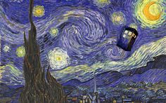 Винсент Ван Гог, la noche estrellada, Звездная ночь, ТАРДИС вектор