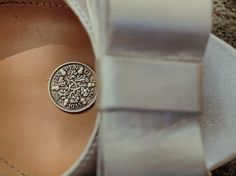 Something old, something new, something borrowed, something blue, and a silver sixpence in her shoe <3 I did marry a British man after all, might as well go all out on the details! (Riversedge Photography, Michigan)