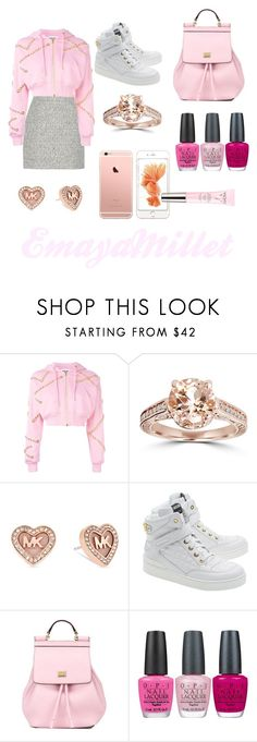 """Pretty pink"" by emayam54 ❤ liked on Polyvore featuring mode, Proenza Schouler, Moschino, Bliss Diamond, Michael Kors, Dolce&Gabbana, OPI et Vichy"