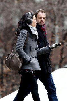 Jonny Lee Miller - Jonny Lee Miller and Lucy Liu Film 'Elementary'