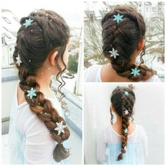 Elsa's braid from Frozen (pancaked frenchbraid)