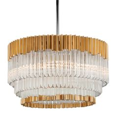 Charisma by Corbett Lighting. #Crystal and #Gold combine to dazzling effect…