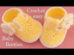 51 Ideas Crochet Shoes Baby Tutorial Crocodile Stitch For 2019 Booties Crochet, Crochet Baby Boots, Crochet Bebe, Crochet Shoes, Baby Booties, Easy Crochet, Baby Shoes, Crochet Fabric, Tutorial Crochet