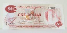 Guyana, 1 dollar, ND UNC > Waterfall, Combine Harvesters Combine Harvester, Legal Tender, One Dollar, Finance, Waterfall, 1, Banknote, Ebay, Collection