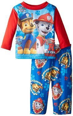 Nickelodeon Baby Boys Paw Patrol R Is For Rescue 2 Piece Pajama Set Blue 18 Months ** Be sure to check out this awesome product.