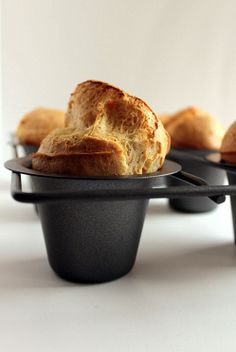 Pepper & Parmesan Popovers...I've been wanting to learn how to make these since I saw them on Diners, Drive ins and Dives!