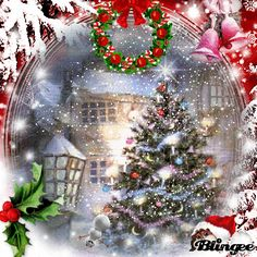 Noel - Baby Home Dekoration Christmas Animated Gif, Christmas Tree Gif, Merry Christmas Pictures, Vintage Christmas Images, Merry Christmas To All, Christmas Scenes, Christmas Wishes, Christmas Greetings, Beautiful Christmas