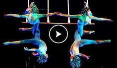 [AWESOME] Breathtaking Triple Trapeze Acrobatics Show...