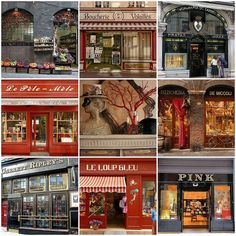 Charming storefronts in Europe by Bella Luna Creative on flickr