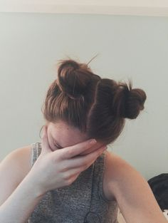 Double buns hairstyle. Instagram: sv_tlu_