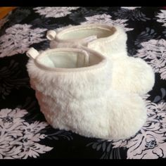 c3faa89d7ab Faux Fur Baby Boots in Cream