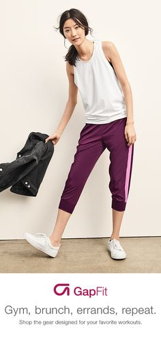 When it comes to your workout, let your clothing do the heavy lifting. Strengthen your mind and body in gear designed specifically for your favorite workouts. Browse GapFit and discover pants made with four-way stretch, breathable jersey and GDry wicking material made for movement and high-performance.