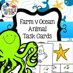 This resource contains 37 different task cards giving students the choice of recognising if the animal can be found on a farm or in the ocean.The task cards are in col and b/w option for your preference.I recommend cutting out each card individually and laminating so that they will be stronger and longer lasting.