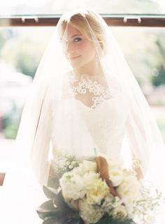 #veils  Photography: Patrick Moyer - www.patmoyerweddings.com  Read More: http://www.stylemepretty.com/2014/04/17/classic-elegance-inspiration-at-the-santa-barbara-club/