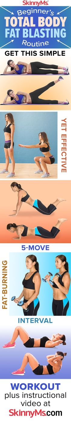 This Beginner's Total Body Fat Blasting Routine is the perfect workout for beginners!   Fat Burning Exercise Routines   Beginner Workouts