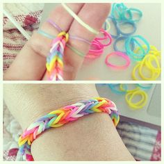 How To Make Rubber Band Bracelets – No Rainbow Loom i know how to do these but might be a new way to do it!!!
