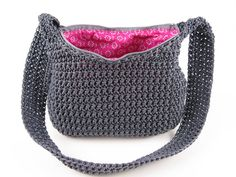 Crochet Nylon Handbag Pattern - Digital Download PDF Crochet Pattern on Etsy, $5.00