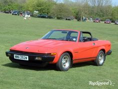 Triumph TR7...this was my dream car as a kid, but I wanted it in green...lol