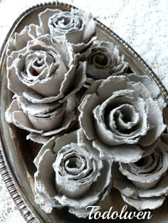 Todolwen (new): An 'Ugly Duckling' Transformation: Beautiful egg box roses!