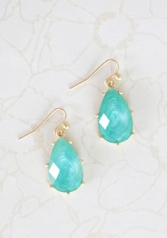 aqua drop earrings. If anyone wants to buy these for me for my birthday I would be totally okay with that! :-P