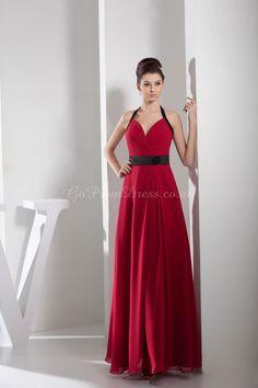 evening dress,evening dresses,evening dress,evening dresses sheath/column chiffon halter natural waist floor-length zipper sleeveless beading ruching sash/ribbon evening dress