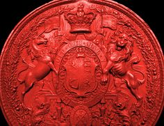 Detail from the Great Scottish Seal of Queen Victoria Keep Calm Carry On, Wax Seals, Queen Victoria, Badges, Flags, Scotland, Medieval, Symbols, Detail