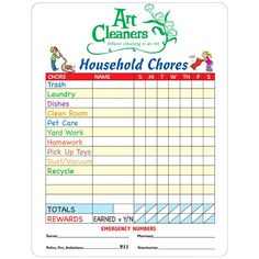 memo board household chores