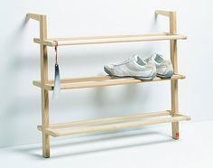 Wooden Ladder Shoe Rack - Wide