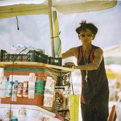 Copacabana beach in the top season - beach vendors. ©Klara Vaculikova