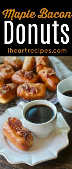 Frugal Food Items - How To Prepare Dinner And Luxuriate In Delightful Meals Without Having Shelling Out A Fortune Where Can I Buy A Maple Bacon Donut? No Need To Search For That Anymore, Because I'm Going To Share This Easy Maple Bacon Donut Recipe That I Heart Recipes, Donut Recipes, Sweet Recipes, Fall Recipes, Yummy Recipes, Donuts Near Me, Sweet Desserts, Delicious Desserts, Breakfast Recipes