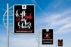 Street Pole Ads for Walk a Mile in Her Shoes, created for Westgate's Walk a Mile campaign