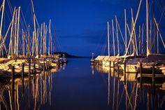 Blue hour am #Yachthotel #Hafen #Chiemsee