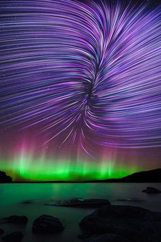 A lovely mix or purple,Green and Red   imposingtrends: Rift Star Trails | IT | Facebook | Instagram