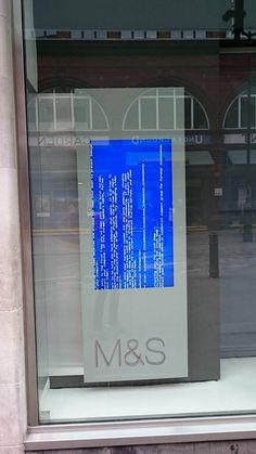 Marks & Spencers in Covent Garden in Oct 14 (was going through my phone) #bsod #pbsod