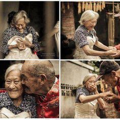After 81 year on  marriage he brought her a white dress and told her in front of everyone how beautiful you are