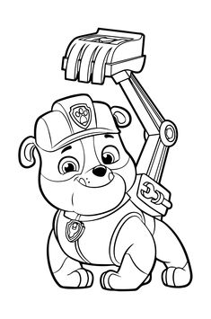 chase from paw patrol 2 coloring page | ausmalbilder, kostenlose ausmalbilder, paw patrol