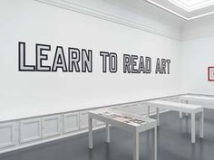 """"""" LAWRENCE WEINER """" Neo-conceptual art. Compared to Vernon Ah Kees work because of the no-nonsense, sans serif, Swiss typeface, Helvetica."""