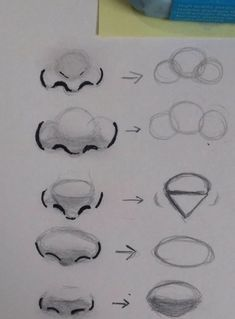 Different nose shapes. - - Christmasen -Different nose shapes. – Different nose shapes. – See it Pencil Art Drawings, Easy Drawings, Drawing Sketches, Drawing Tips, Drawings Of Eyes, Easy Realistic Drawings, Beginner Drawing, Cartoon Drawings, Sketching Tips