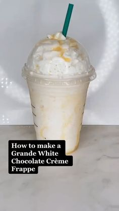 Coffee Drink Recipes, Starbucks Recipes, Starbucks Frappe Recipe, Bebidas Do Starbucks, Starbucks Drinks, Starbucks Coffee, Yummy Drinks, Yummy Food, Fun Baking Recipes