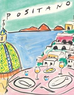 Le Sirenuse | Luke Edward Hall Edward Hall, High Art, Art Sketchbook, New Art, Art Inspo, Art Drawings, Illustration Art, Artsy, Prints