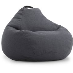 BeanSack Big Joe Lux Linen Large Teardrop Bean Bag Chair (385 CAD) ❤ liked on Polyvore featuring home, furniture, chairs, colored chairs, linen chairs, linen furniture, brown bean bag and bean-bag chair
