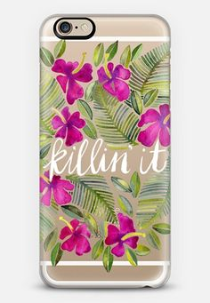 Killin' It � Tropical Pink on Transparent iPhone 6s case by Cat Coquillette | Casetify